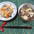 牡蠣メシ&芋煮